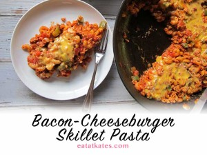 Bacon-Cheeseburger Skillet Pasta