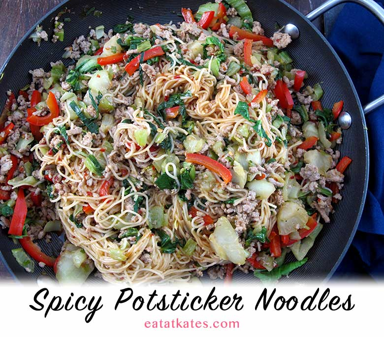 Spicy Potsticker Noodles With Soy Sesame Sauce Eat At Kate S